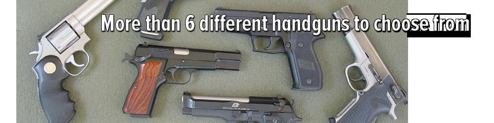 6 handguns at Berlin gun range